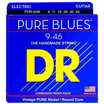 DR Strings PHR-9/46 Pure Blues Electric Strings - Lite-n-Heavy, 9-46 for sale