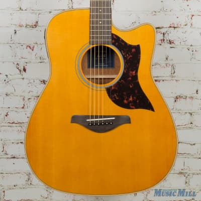 yamaha a1m dreadnought acoustic electric with cutaway natural reverb. Black Bedroom Furniture Sets. Home Design Ideas