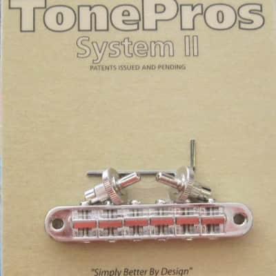 TonePros T3BP-N Standard Tuneomatic Bridge with Notched Saddles Nickel image