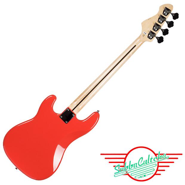 Revelation RPB 65 F Red Fretless Bass Guitar