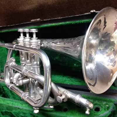 Vintage 1888 Conn Wonder Professional Silver Cornet In Nearly Mint Condition