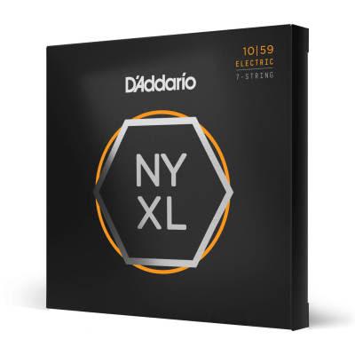 D'Addario Nickel Wound 7-String Electric Guitar Strings, Regular Light, 10-59