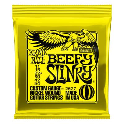 Ernie Ball P02627 Beefy Slinky Nickel Wound Electric Guitar Strings 11-54 Gauge