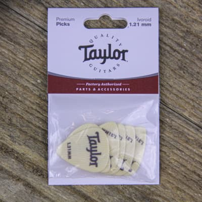 Taylor Ivoroid Picks 1.21mm 6 Pack