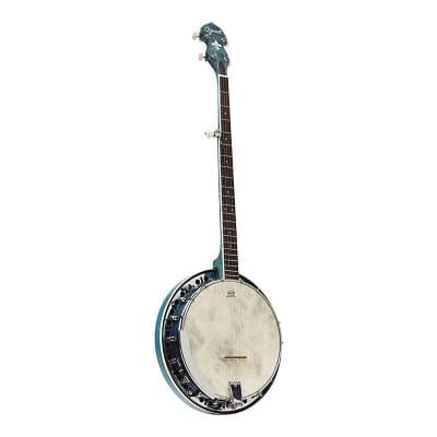 Ozark 5 String Banjo - Blue for sale