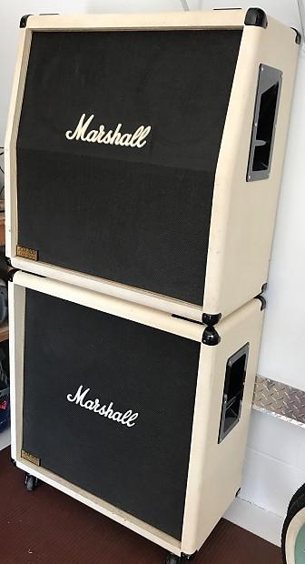 Vintage Marshall JCM 800 Stack   4x12 Cabinets (2), 1987 White