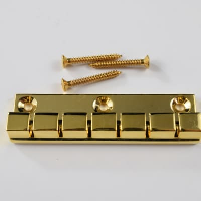 6 String Flat-Mount 3-screw Tailpiece in Gold