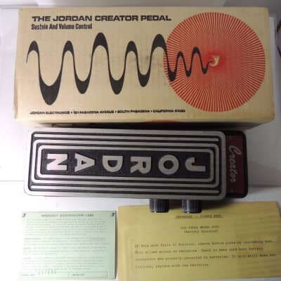 NOS Jordan Creator Model 6000 Volume and Sustain Control Fuzz Pedal New Old Stock w/Box & Docs for sale