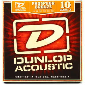 Dunlop DAP1048 Phosphor Bronze Acoustic Guitar Strings - Extra Light (10-48)
