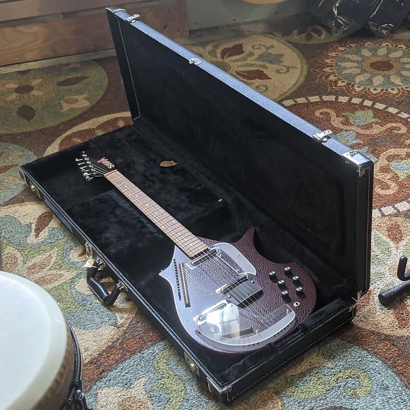 Jerry Jones Master Electric Sitar Guitar 1990 - 1993 Red Crackle Gator w/ HSC