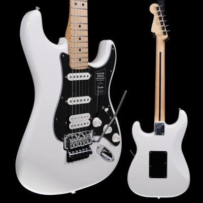 Fender Player Stratocaster w Floyd Rose, Maple Fb, Polar White 943 8lbs 2.3oz for sale