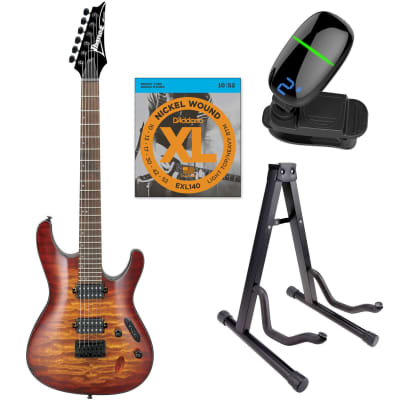 Ibanez S621QMDEB S Standard 6-str Electric Guitar  - Dragon Eye w/Strings, Front Row Tuner & Stand