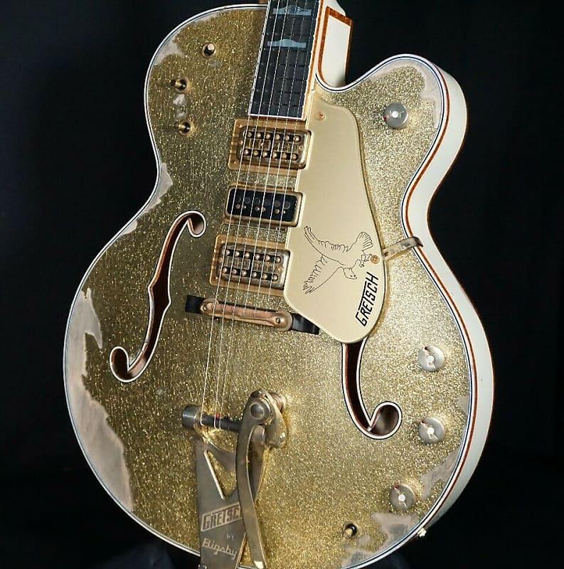 Gretsch USA Custom Shop Falcon Gold Sparkle Top