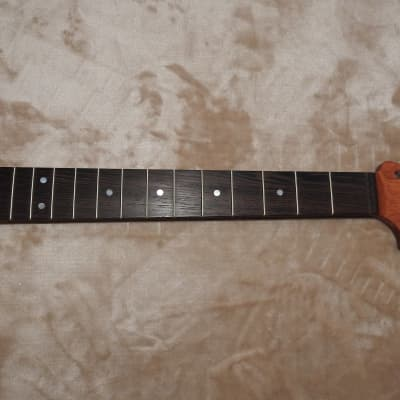 "Strat Style CBS HS Unfinished Neck Wenge on Bloodwood 22 Medium Tall Frets C Profile 12"" Radius"