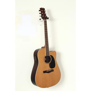 Mitchell Element Series ME2CEC Dreadnought Cutaway Acoustic-Electric Guitar Regular Natural Indian Rosewood back/sides, Solid Red Cedar top for sale