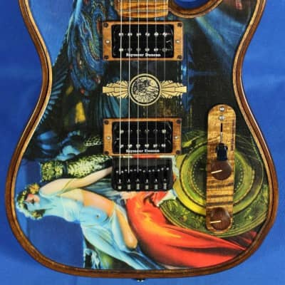 Walla Walla Guitar Company Maverick Pro Crystal Lady And The Cat Tele Guitar w/OHSC for sale