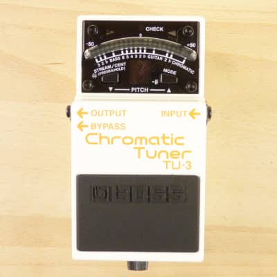 Boss TU-3 Chromatic Tuner Pedal - Bullet Proof Stompbox Guitar Or Bass Tuner - VG to EX W/ Box!