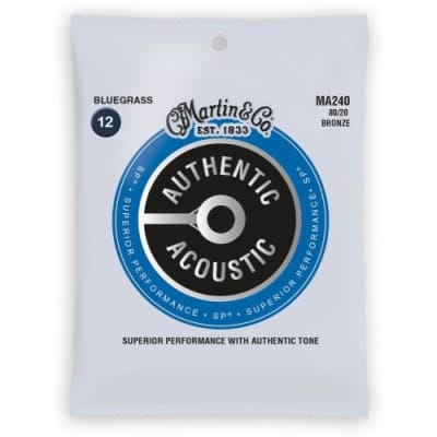 Martin Authentic Acoustic Guitar Strings - Superior Performance - Bluegrass