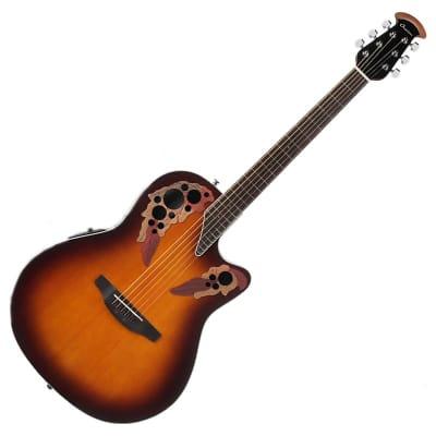 Ovation CE48-1 Celebrity Elite Super Shallow 6-String Acoustic-Electric Guitar w/ Demo Video