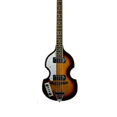 De Rosa Left Handed Hollow Body Electric Violin Bass Guitar GB-BB2LH-TS 2019 Tobacco Sunburst for sale