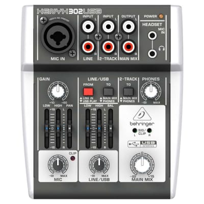 Behringer 302 USB Premium 5-Input Mixer with XENYX Mic Preamps and USB