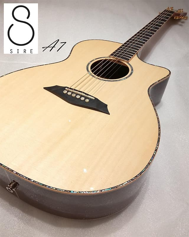 Sire A7 (Sungha Jung series) Natural All Solid Spruce & Rosewood Grand  Auditorium (gloss)