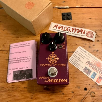 Analogman Prince of Tone Overdrive Pedal for sale