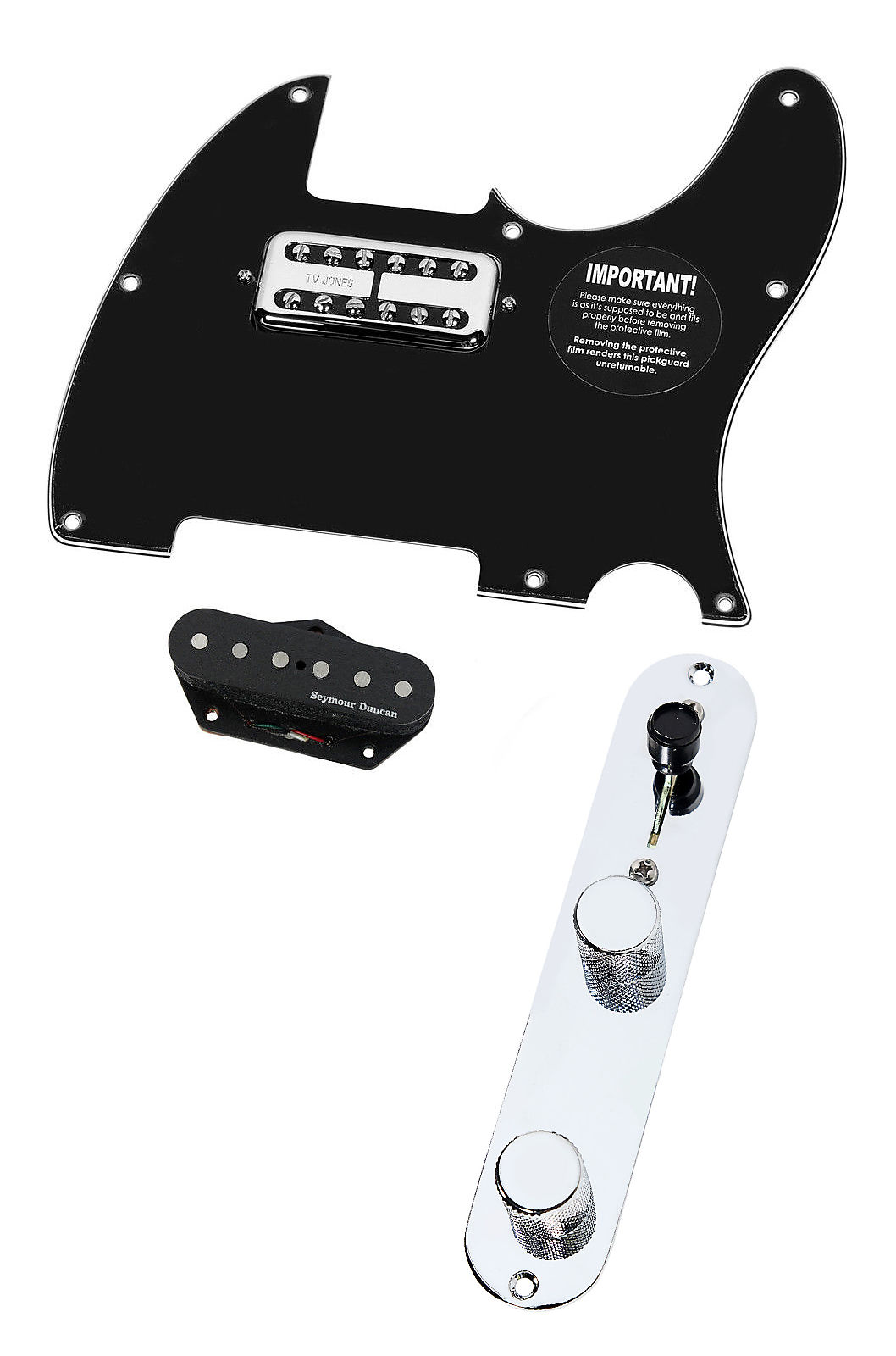 BP Fender Tele Telecaster Loaded Pickguard Seymour Duncan Hot Pickups T4W
