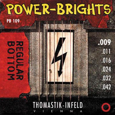 NEW Thomastik-Infeld Power Brights Electric Guitar Strings PB109 (.009 - .042)
