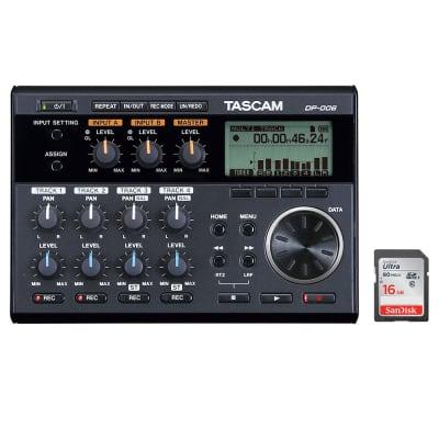 Tascam DP-006 6-Track Digital Pocketstudio Bundle with 16GB Ultra Memory Card