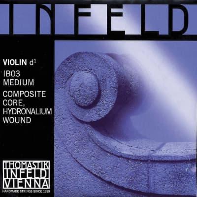 Thomastik-InfeldIB03 Infeld Blue Hydronalium-Wound Composite Core 4/4 Violin String - D (Medium)