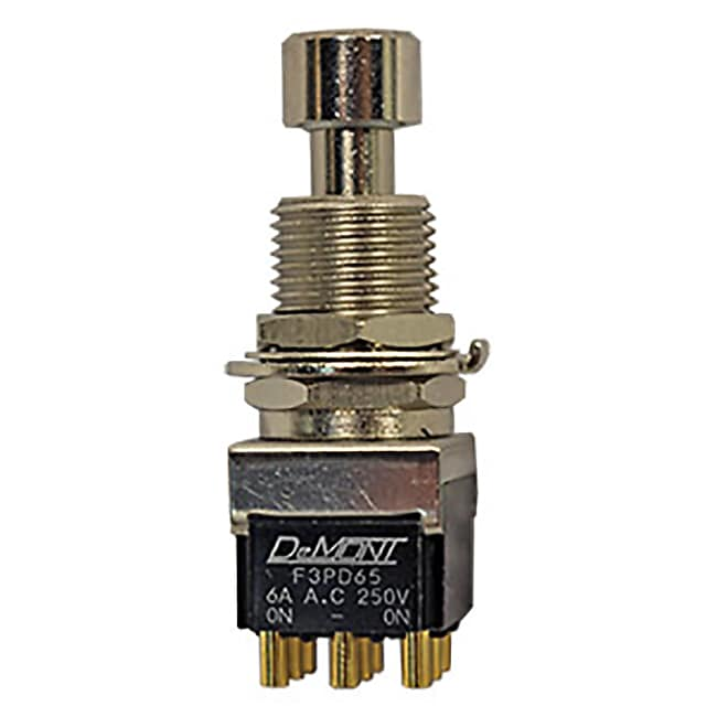 DeMont / Guyatone 3PDT Smooth-Click Foot Switch, Highest Quality Stomp Box Switch