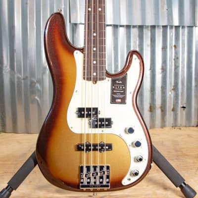 Fender American Ultra Precision Electric Bass, Rosewood Fingerboard (with Case), Mocha Burst for sale
