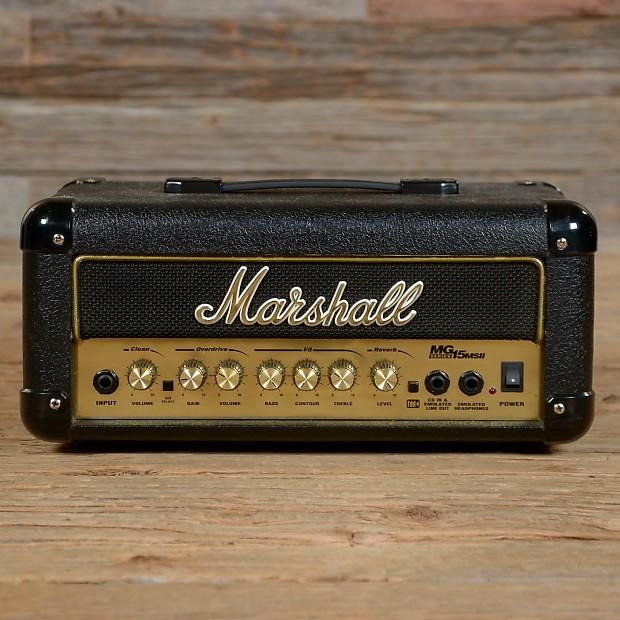 marshall mg15msii lead 15 watt guitar amp amplifier mini reverb. Black Bedroom Furniture Sets. Home Design Ideas