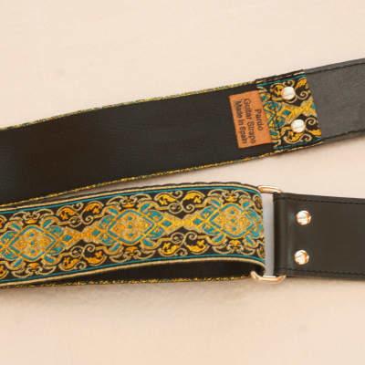 Pardo Guitar Strap Blue Royal  Hippie Handmade Leather Guitar & Bass