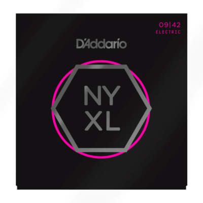 D'Addario NYXL0942-3P Nickel Wound Electric Guitar Strings, Super Light, 9-42, 3 Pack