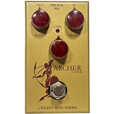 J. Rockett Audio Designs Tour Series Archer IKON Overdrive and Boost Guitar Effects Pedal for sale