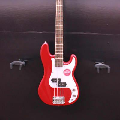 Squier Mini Precision Bass, Dakota Red- Free shipping lower US!