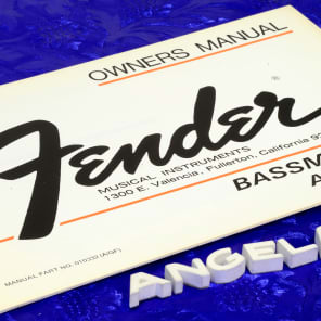 Fender Bassman Ten Amplifier '76 Owner's Manual Booklet Original N.O.S. Print