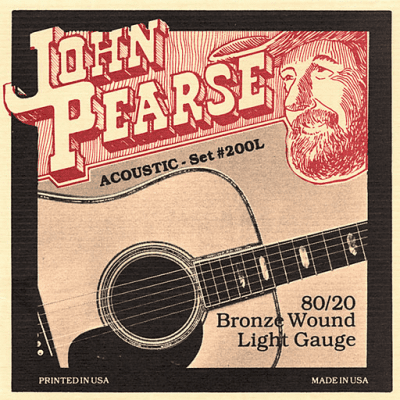 John Pearse 200L Light Bronze Wound Acoustic Guitar Strings