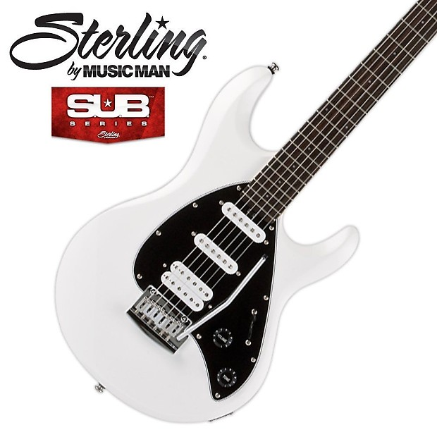 Sterling By Music Man Sub Silo3 White Electric Guitar Kit Reverb