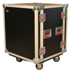 Gator G-TOUR-SHK12-CAS 12U Rack Shock-Mount ATA Road Case w/ Casters