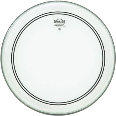 Remo P31324C2 Powerstroke 3 Bass Drum Head Clear 24 Inch