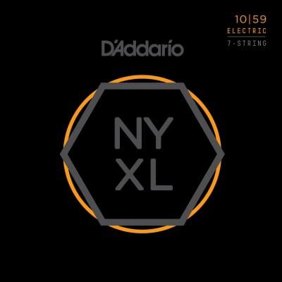 D'Addario NYXL1059 Regular Light Nickel Wound 7-String Electric Guitar Strings - 10-59 Gauge