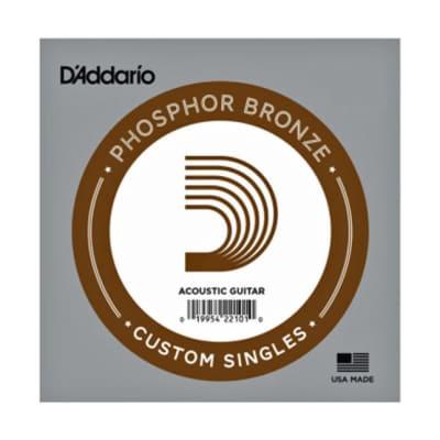 D'Addario Phosphor Bronze Acoustic Guitar String   Singles - .053