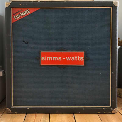 Vintage 1972  Simms Watts Tri-Tone 4x12 guitar bass cab cabinet with Fane speakers for sale