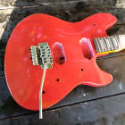 Music Series Slight relic red Guitar Body. Fits OEM  necks, kill switch  Guitar body project image