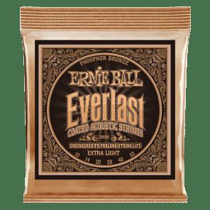 Ernie Ball 2550 Everlast Phosphor Bronze Extra Light Acoustic Guitar Strings (10-50)
