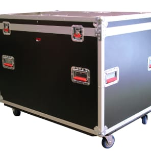 "Gator G-TOURTRK4530HS Truck Pack Trunk 45x30x30"" w/ Dividers and Casters"