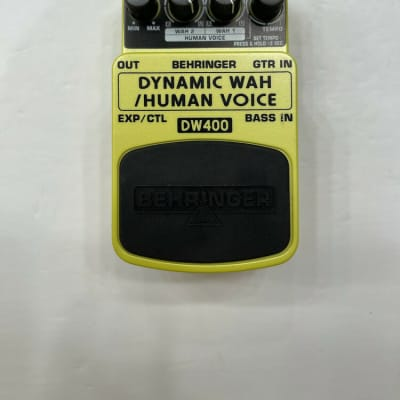 Behringer DW400 Dynamic Wah / Human Voice Auto Filter Rare Guitar Effect Pedal for sale